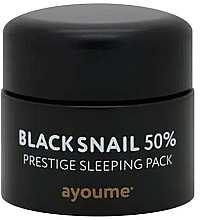 Parfumuri și produse cosmetice Mască de noapte (fără clătire), cu extract de mucină de melc negru - Ayoume Black Snail Prestige Sleeping Pack