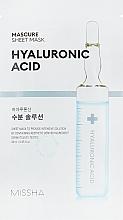Parfumuri și produse cosmetice Mască hidratantă cu acid hialuronic pentru față - Missha Mascure Hydra Solution Sheet Mask
