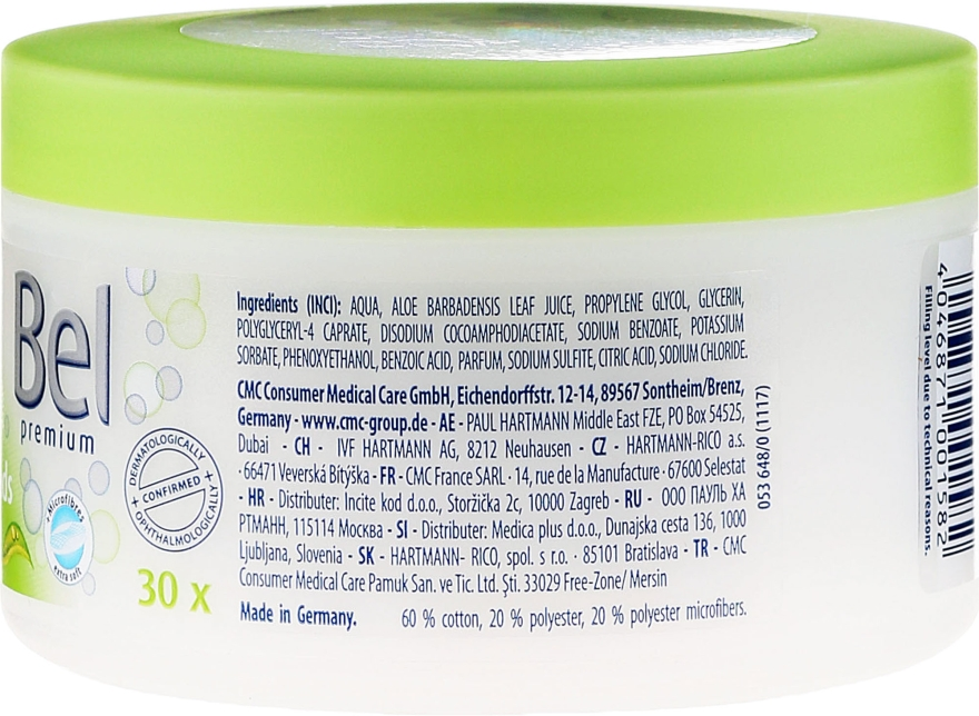 Discuri din bumbac cu extract de aloe vera - Bel Premium Lotion Pads with Aloe Vera — Imagine N2