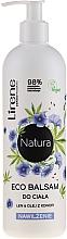 """Parfumuri și produse cosmetice Balsam hidratant de corp """"In și ulei de cânepă"""" - Lirene Natura Eco Balm"""