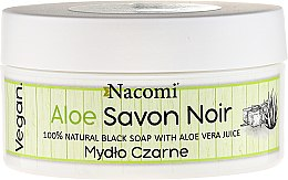 Parfumuri și produse cosmetice Săpun negru cu suc de aloe vera - Nacomi Savon Noir Natural Black Soap with Aloe Vera Juice