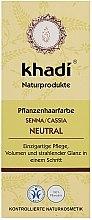 """Mască organică pentru păr """"Henna Neutră"""" - Khadi Hair Conditioner — Imagine N1"""