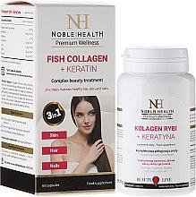 Parfumuri și produse cosmetice Supliment nutritiv pentru păr, piele și unghii - Noble Health Kolagen + Ceratin
