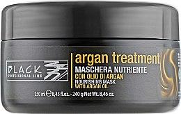 Parfumuri și produse cosmetice Mască cu ulei de argan, keratină și colagen pentru păr - Black Professional Line Argan Treatment Mask