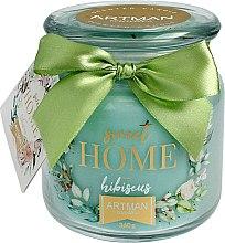 Parfumuri și produse cosmetice Lumânare aromată, 10x11 cm, 360g - Artman Sweet Home Hibiscus