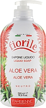"Parfumuri și produse cosmetice Săpun lichid ""Aloe Vera"" - Parisienne Italia Fiorile Aloe Vera Liquid Soap"