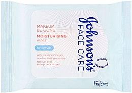 Parfumuri și produse cosmetice Șervețele umede - Johnson's Face Care Wipes Moisturising Dry Skin