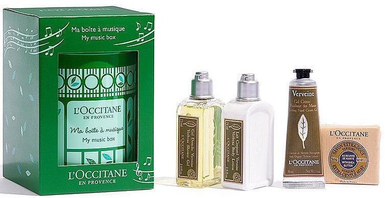 Set - L'Occitane Verbena My Music Box (sh/gel/75ml + b/milk/75ml + h/cr/30ml + soap/50g) — Imagine N3