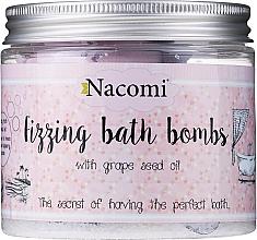 Parfumuri și produse cosmetice Set bile efervescente pentru baie - Nacomi Fizzing Bath Bomb With Grape Seed Oil (bomb/4)