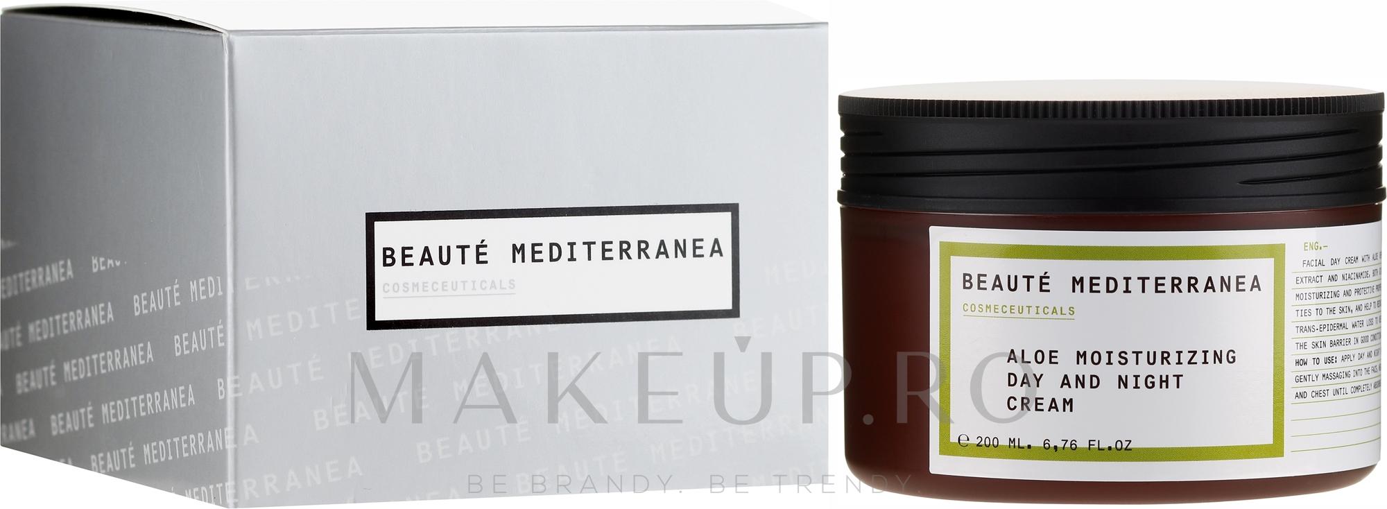 Cremă hidratantă cu aloe pentru față - Beaute Mediterranea Aloe Moisturizing Day And Night Cream — Imagine 200 ml