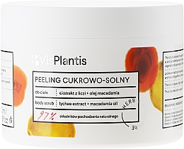 "Parfumuri și produse cosmetice Peeling de corp ""Lichee și ulei de macadamie"" - Vis Plantis Sugar & Salt Body Scrub"