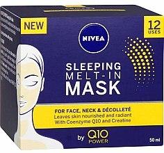 Mască de noapte pentru față - Nivea Q10 Power Sleeping Melt-In Mask — Imagine N3