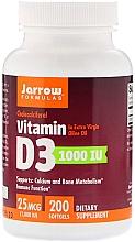 Parfumuri și produse cosmetice Suplimente nutritive - Jarrow Formulas Cholecalciferol Vitamin D3 1000 IU 25 mcg