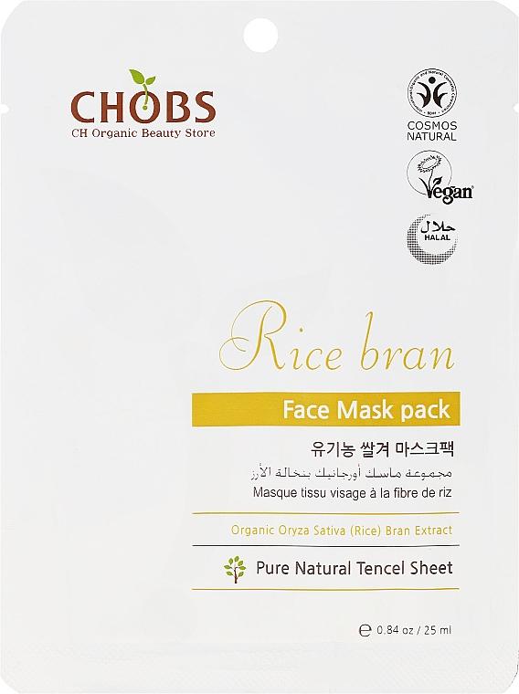 """Mască de față """"Extract de tărâțe de orez"""" - CHOBS Rice Bran Face Mask Pack — Imagine N1"""