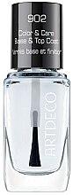 Parfumuri și produse cosmetice Fixator de unghii - Artdeco Color & Care Base & Top Coat 902