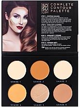 Parfumuri și produse cosmetice Paletă contur facial - Sosu by SJ Magnetic Refillable Complete Contour Palette