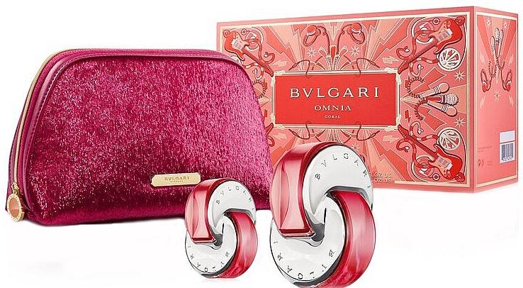 Bvlgari Omnia Coral - Set (edt/65ml + edt/15ml + bag) — Imagine N1