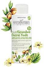 Parfumuri și produse cosmetice Ulei de argan cu extract de frunze de hamamelis pentru capete despicate - MaterNatura