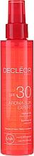 Parfumuri și produse cosmetice Ulei de păr și corp - Decleor Aroma Sun Expert Summer Oil Spf30