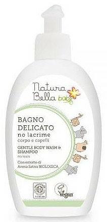 """Spumă și șampon 2în1 pentru copii """"Fără lacrimi"""" - Naturabella Kids Foam and Shampoo — Imagine N1"""