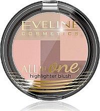 Parfumuri și produse cosmetice Fard de obraz - Eveline Cosmetics All In One Highlighter Blush