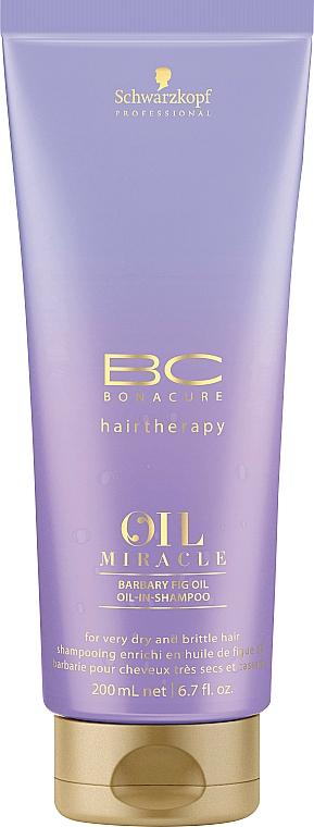 Șampon regenerant cu ulei și kratină - Schwarzkopf Professional Bonacure Oil Miracle Barbary Fig Oil Shampoo
