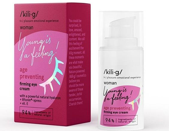 Cremă cu efect de întărire pentru zona ochilor - Kili·g Woman Age Preventing Eye Cream — Imagine N1