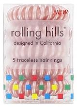 Parfumuri și produse cosmetice Elastic- brățară pentru păr, bronz - Rolling Hills 5 Traceless Hair Rings Bronze