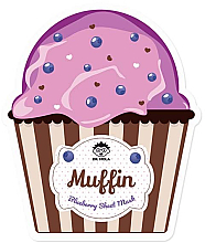 Parfumuri și produse cosmetice Mască de țesut pentru față - Dr. Mola Muffin Blueberry Sheet Mask