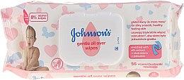 """Parfumuri și produse cosmetice Șervețele umede """"Îngrijire fină"""", hipoalergenice, 56 buc - Johnson's Baby"""