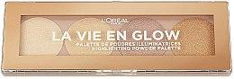 Parfumuri și produse cosmetice Paleta de farduri iluminatoare - L'Oreal Paris La Vie En Glow Highlighting Powder Palette