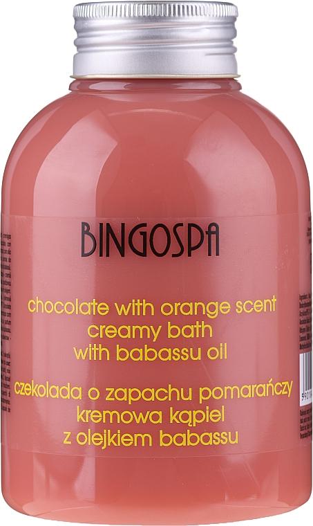 Spumă de baie cremoasă cu extract de ciocolată și portocală - BingoSpa