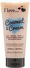 Parfumuri și produse cosmetice Scrub pentru corp - I Love... Coconut & Cream Velvety Hydrates Exfoliating Shower Smoothie