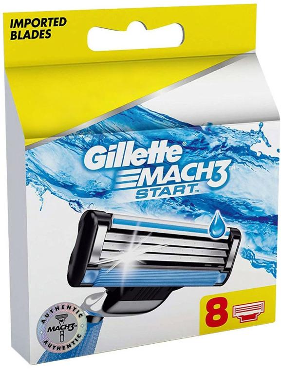Casete de rezervă pentru aparat de ras, 8 buc - Gillette Mach3 Start
