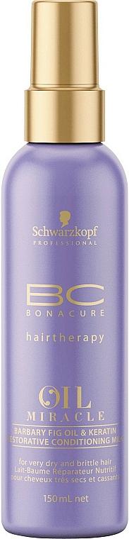 Lăptișor condiționat regenerator cu ulei și keratină - Schwarzkopf Professional Bonacure Oil & Micro Keratin Milk