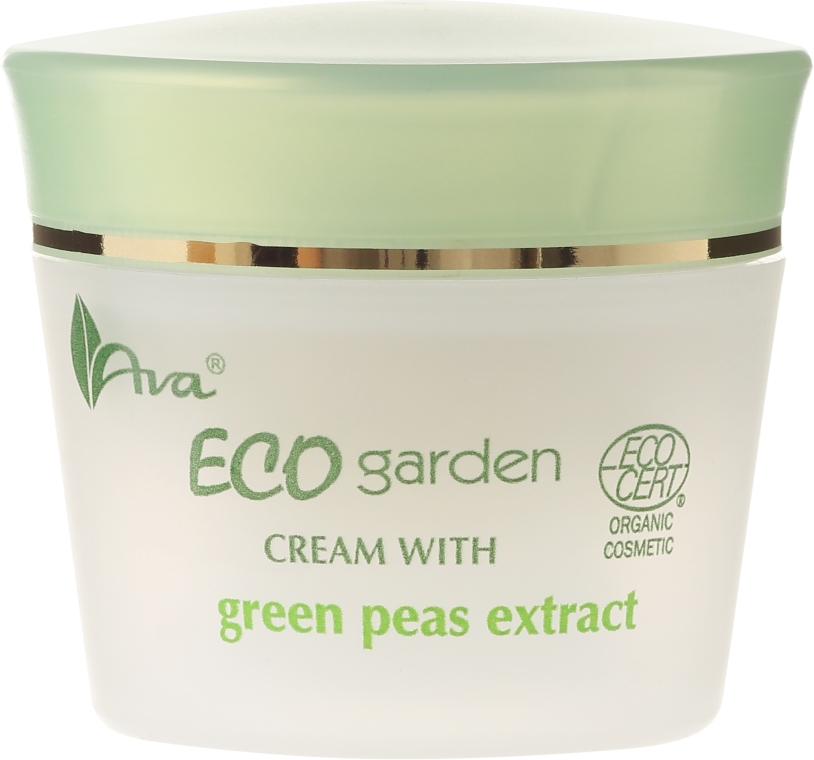 Cremă cu extract de mazăre pentru față 50+ - Ava Laboratorium Eco Garden Certified Organic Cream With Green Peas — Imagine N2