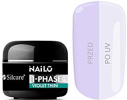 Parfumuri și produse cosmetice Gel de unghii - Silcare Nailo 1-Phase Gel UV Violet Thin