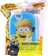 """Parfumuri și produse cosmetice Burete de baie, pentru copii """"Minions"""", albastră - Suavipiel Minnioins Bath Sponge"""