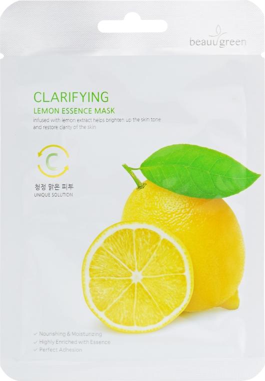 Mască de curățare cu extract de lămâie pentru față - BeauuGreen — Imagine N1