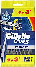 Parfumuri și produse cosmetice Set aparate de ras de unică folosință, 12 buc. - Gillette Blue 3 Comfort