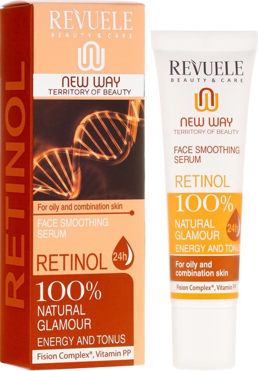Ser pentru față - Revuele Retinol Face Smoothing Serum Moisturise Tone Hydrate Lift Firm Skin