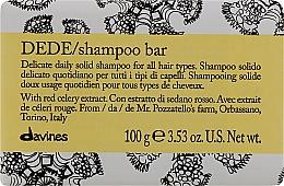 Parfumuri și produse cosmetice Șampon solid delicat pentru uz zilnic pentru toate tipurile de păr - Davines Shampoo Bar