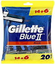 Parfumuri și produse cosmetice Set aparate de ras de unică folosință, 14+6 bucăți - Gillette Blue II