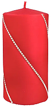 Parfumuri și produse cosmetice Lumânare decorativă roșie, 7x14cm - Artman Bolero