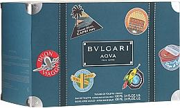 Parfumuri și produse cosmetice Bvlgari Aqva Pour Homme - Set (edt/100ml + ash/balm/100ml + bag)