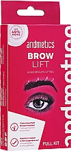 Parfumuri și produse cosmetice Set - Andmetics Brow Lift Kit (eyebrow/glue/7ml + eyebrow/perm lotion/5ml + eyebrow/fixation lotion/5ml + eyebrow brush/1pc)
