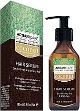 Parfumuri și produse cosmetice Ser cu ulei de cocos pentru păr - Arganicare Coconut Hair Serum For Dull, Very Dry & Frizzy Hair
