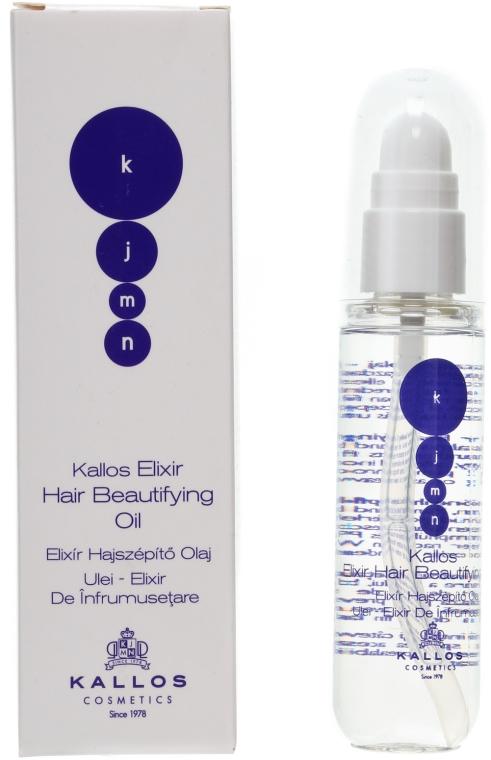 Ulei elixir pentru strălucirea părului - Kallos Cosmetics KJMN Elixir Hair Beautifying Oil