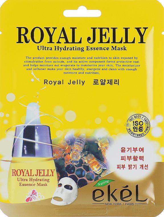 Mască nutritivă din țesătură cu lăptișor de matcă - Ekel Royal Jelly Hydrating Essence Mask