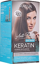 Parfumuri și produse cosmetice Set - Kativa Anti-Frizz Straightening Without Iron Xpert Repair (h/mask/150ml + shmp/30ml + h/cond/30ml)